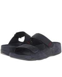 Sandali di tela blu scuro