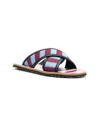 Sandali di tela multicolori
