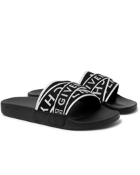 Sandali di tela neri e bianchi