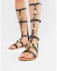 gladiatore in donnaLookastic alti pelle da donnaModa Sandali QrdoxBECWe