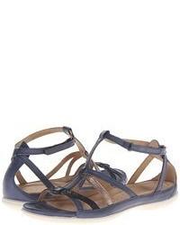 Sandali gladiatore in pelle grigio scuro