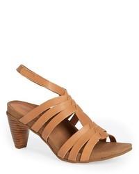 Sandali gladiatore in pelle marrone chiaro