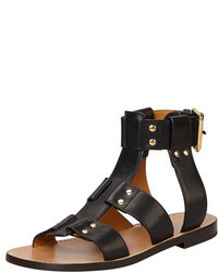 Sandali gladiatore in pelle neri