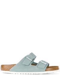 Sandali in pelle azzurri di Birkenstock