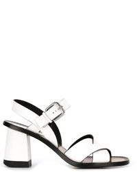 Sandali in pelle bianchi di Jil Sander