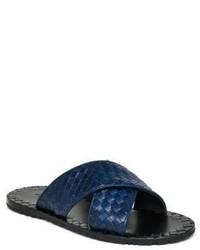 Sandali in pelle blu