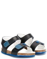 Sandali in pelle foglia di tè di Armani Junior