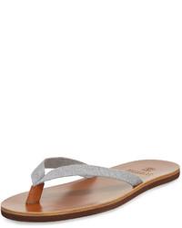 Sandali in pelle grigi
