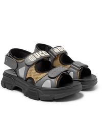 Sandali in pelle grigi di Gucci