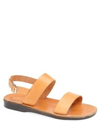 Sandali in pelle marrone chiaro