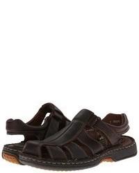 Sandali in pelle marrone scuro