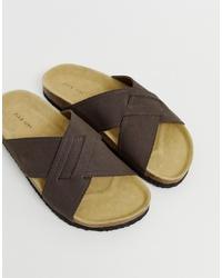 Sandali in pelle marrone scuro di Pier One
