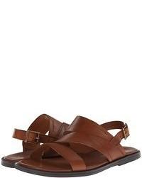 Sandali in pelle marroni