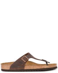 Sandali in pelle marroni di Birkenstock
