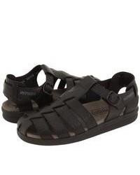 Sandali in pelle neri
