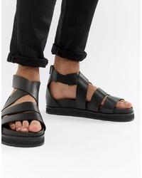 Sandali in pelle neri di ASOS DESIGN