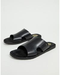 Sandali in pelle neri di Base London