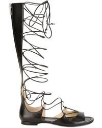 Sandali in pelle neri di Michael Kors
