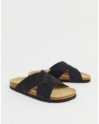 Sandali in pelle neri di Pier One