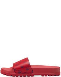 Sandali in pelle rossi