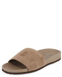 Sandali in pelle scamosciata marrone chiaro