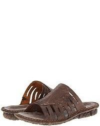 Sandali piatti marrone scuro