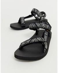 Sandali stampati neri di Teva