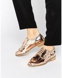 Scarpe brogue dorate di Asos
