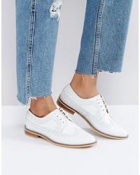 Scarpe brogue in pelle bianche di Asos