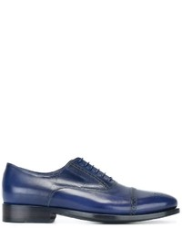 Scarpe brogue in pelle blu di Paul Smith