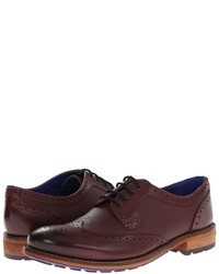 Scarpe brogue in pelle bordeaux