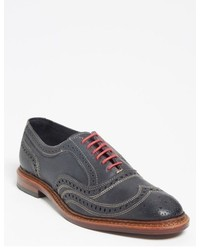 Scarpe brogue in pelle grigio scuro