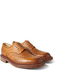 Scarpe brogue in pelle marrone chiaro