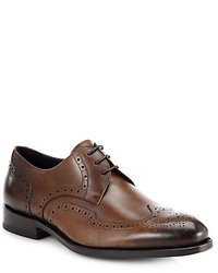 Scarpe brogue in pelle marrone scuro