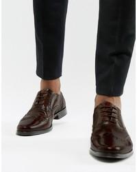 Scarpe brogue in pelle marrone scuro di ASOS DESIGN