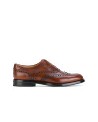 Scarpe brogue in pelle marroni