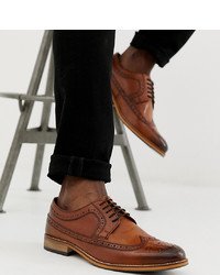 Scarpe brogue in pelle marroni di ASOS DESIGN