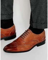 Scarpe brogue in pelle marroni di Asos