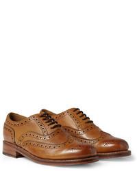 Scarpe brogue in pelle marroni di Grenson
