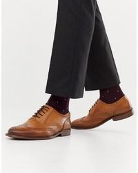 Scarpe brogue in pelle marroni di Office