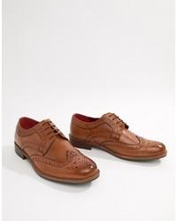 Scarpe brogue in pelle marroni di Silver Street