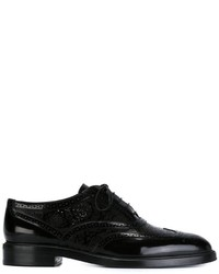 Scarpe brogue in pelle nere di Burberry