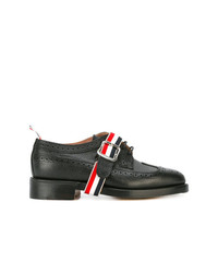 Scarpe brogue in pelle nere di Thom Browne