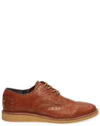 Scarpe brogue in pelle terracotta
