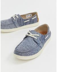 Scarpe da barca di tela blu di Toms