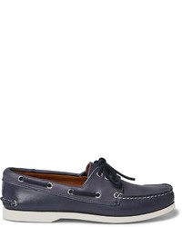 Scarpe da barca in pelle blu scuro di Quoddy
