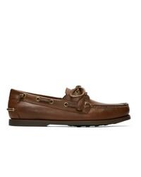Scarpe da barca in pelle marroni di Polo Ralph Lauren