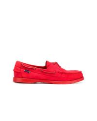 Scarpe da barca in pelle scamosciata rosse di Sebago