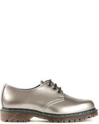 Scarpe derby in pelle argento