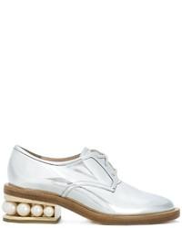 Scarpe derby in pelle argento di Nicholas Kirkwood